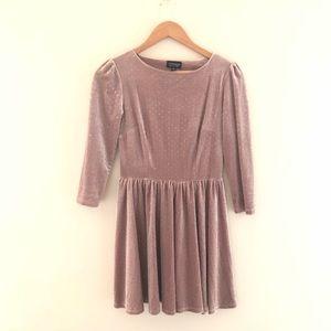 a0cff63f Topshop Dresses   Velvet Glitter Spot Flippy Skater Dress   Poshmark